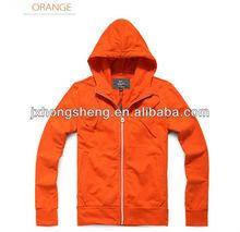 plain mens fashion button zip french terry hoodie