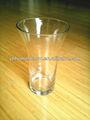 tamaño pequeño ensanchado florero de vidrio transparente