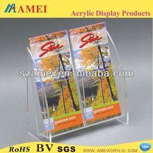 clear plastic pamphlet holder