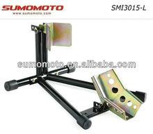 "Motorcycle Steel Wheel Chock Wheel Holder Auto Clipping 12"" - 19""adjustable Flat Package Wheel Stopper SMI3015-L"