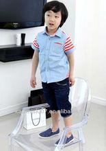 Kids Boys' handsome denim Splicing Shirt