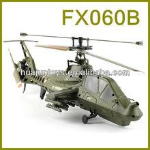 2013 mais novo! Venda quente FX060B 2.4 g único balde 4ch rc helicóptero com giroscópio, Brinquedos helicóptero