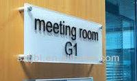 hanging wall-mounted acrylic door signs/office door name plates