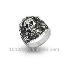2013 gothic Skull ring Fashion Skull Heads Shaped Rings