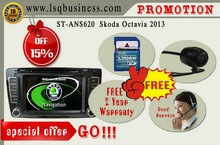 LSQ Star car pc in-dash monitor for Skoda Octavia 2013 with GPS,Radio,DVD,IPAS,OPS,BT Phonebook,4*60W amplifier,hot promotion!