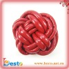 SF0189 Beautiful handmade knotted red pu shoes decoration accessories for flip flop