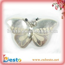 SF0345 Fashion pretty white leather butterfly shoe accessores for kids