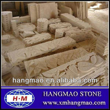 Natural yellow sandstone carving