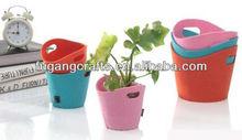 mini felt bucket shopping bags