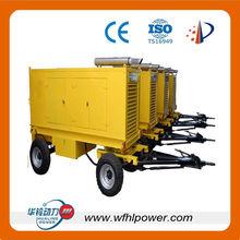 Rica rdo diesel cheap portable generator ,movable trailer genset, 2 wheels/4wheels