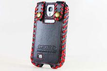 Derechos de autor para Samsung Galaxy S4 I9500 diseño de primera calidad genuino de cuero caja de parachoques