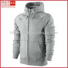 Custom hoodie men made of fleece in plain grey