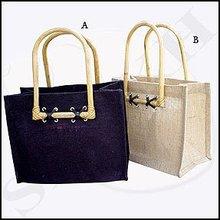 Cane Handle Jute Bag