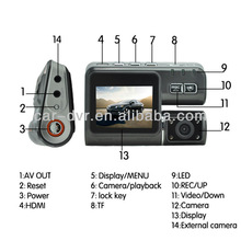 "2.0""Screen car dash camera vehicle dvr car with g-sensor"