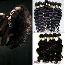 wholesale no chemical no shedding remy hair 100% virgin peruvian hair water wave hair