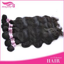 Virgin human hair natural color hair weave in bulk