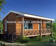 New design light steel prefab wood houses villa