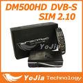 Dm500hd, sim2.10, dvb-s, suporta o linux tv api, externa 12v fonte de alimentação, múltipla lnb- comutação de controle( suporta diseqc)