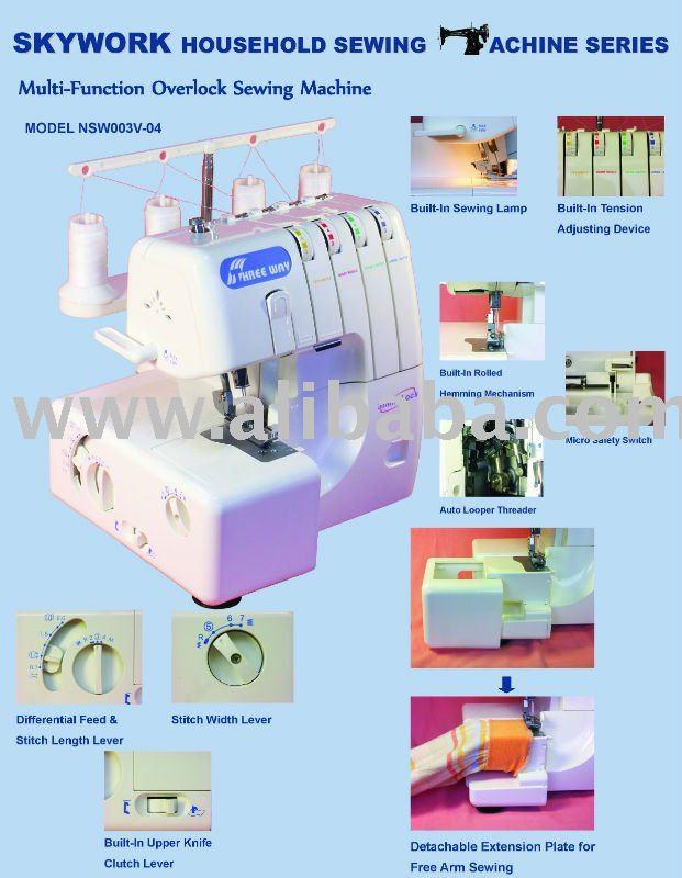 Máquina de coser del hogar máquina Overlock