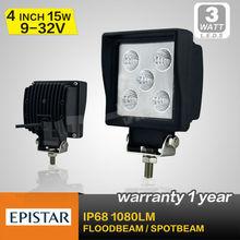 Led lampe de travail pour automobiles, 15 W LED lumière crue