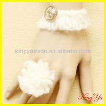Lady Fashion Accessories Wool Bracelet and Ring (KY83179)