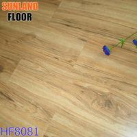 coconut wood flooring wood grain waterproof laminate flooring HF8081 changzhou good quality