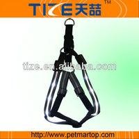 2014 hot sell pet led dog harnessTZ-PET6105F retractable dog belt harness