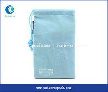 Light blue luxury velvet pouch