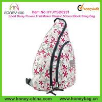 Urban Sport Daisy Flower Trail Maker Classic School Book Sling Bag For Girls