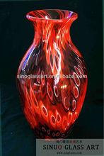 Rose Colored Glass Vase for Wedding Decoration