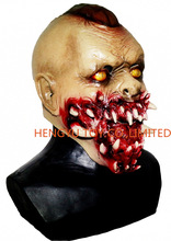 Mens Ladies Adult New Zombie Horror Full Fancy Dress Costume Latex Rubber Mask