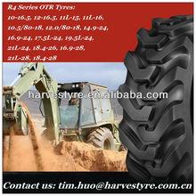 10.5/80-18, 12.5/80-18, 14.9-24, 16.9-24, 17.5L-24, 19.5L-24, 21L-24, All series R4 OTR tyres