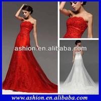 WE-1880 Stunning lace pakistani red bridal dresses in karachi