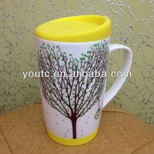 Customized wholesale creative four seasons ceramic cup/Summer