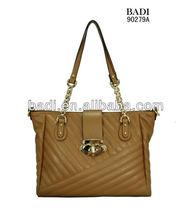Chain bags high quality guangzhou fashion ladies pu chain handbag with embroidery handbag