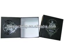 Noir Folable boîte d'emballage pour cigare