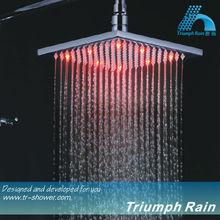 full stainless steel hydro power LED shower head