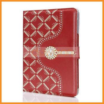 Red PU Case for iPad Mini PU Leather Case for iPad Mini