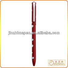 Colorful promotional thin metal ballpoint pen, Polka dot pen