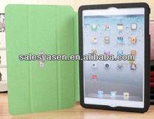 Three foldings smart cover of leather fold case for ipad mini