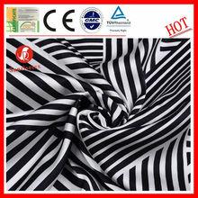 wholesale wicking black white striped satin fabric for dress\ black white striped satin fabric