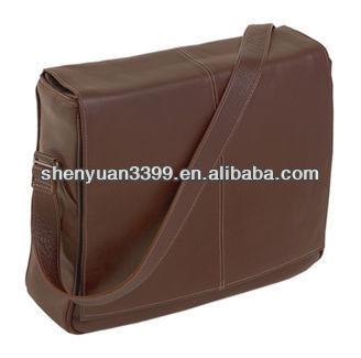Men's leather briefcase/attache case/business bag briefcase