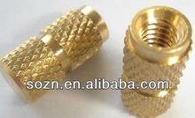 CNC machining brass insert/brass barrel nut/plastic knurling insert fitting