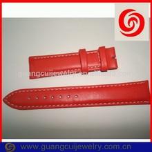 Fashion band long strap leather watch