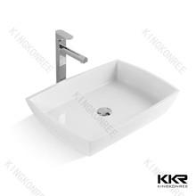 Italian hot designer stone sink,acrylic resin wash basin,restaurant furniture