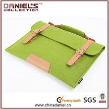 Fashionable design felt bag for ipad ,green practical felt bag felt case