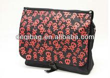 Book Skull shoulder Messenger bag - Black backback travel to school