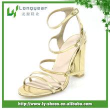 New Model Golden Women Party Sandals
