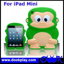 Cute Monkey Silicone Soft Back Cover Skin Case for Apple iPad Mini