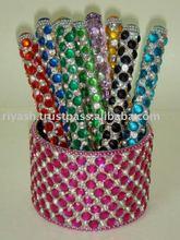 Cut Crystal studded Handmade Pens - refillable